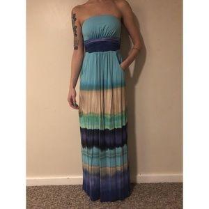 Cynthia Rowley strapless maxi dress XS